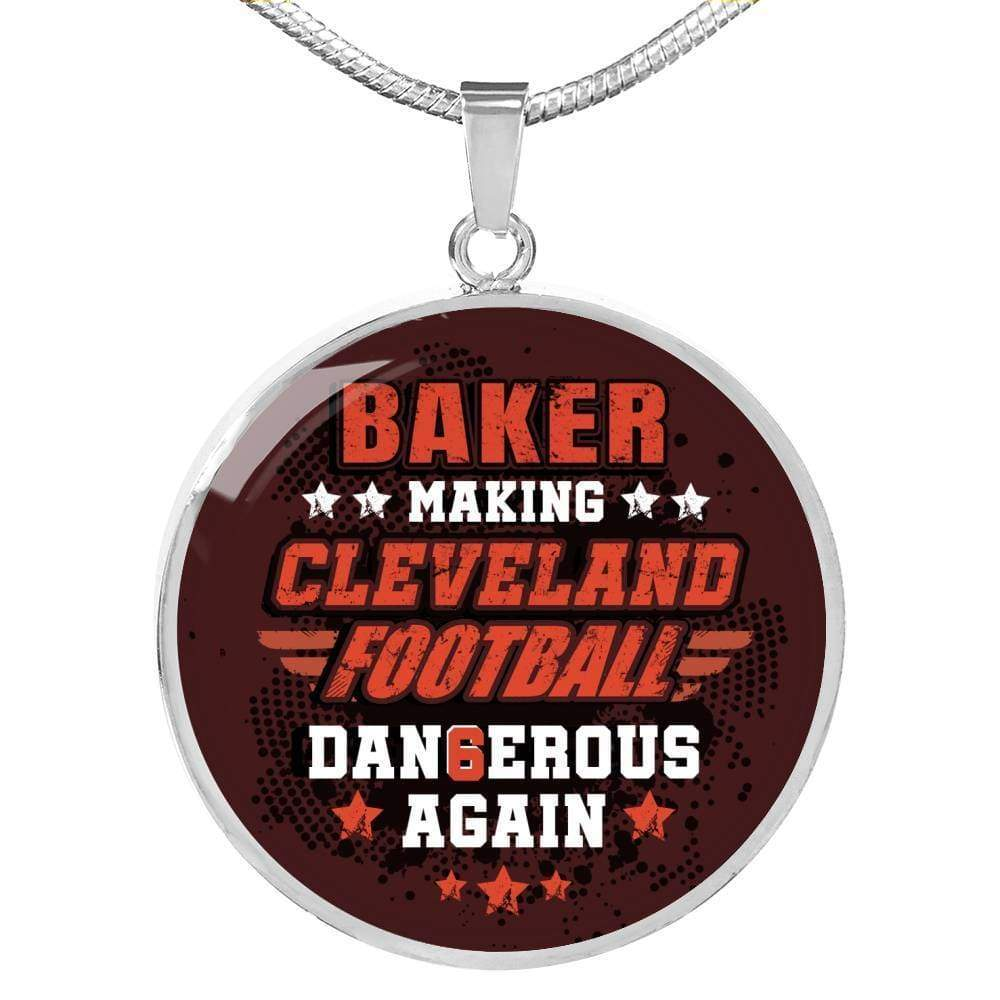 Cleveland Fan Jewelry Gift-Making Cleveland Football  Dangerous Pendant Necklace Express Your Love Gifts
