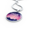 Faith in God Includes Faith In His Timing Circle Pendant Necklace - Express Your Love Gifts