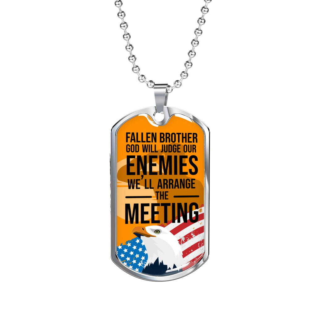Fallen Brother Dog Tag Pendant Necklace Express Your Love Gifts