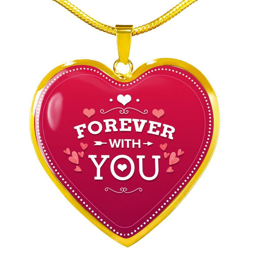 Express Your Love Gifts Forever With You Heart Pendant Necklace Luxury Necklace (Gold) / No