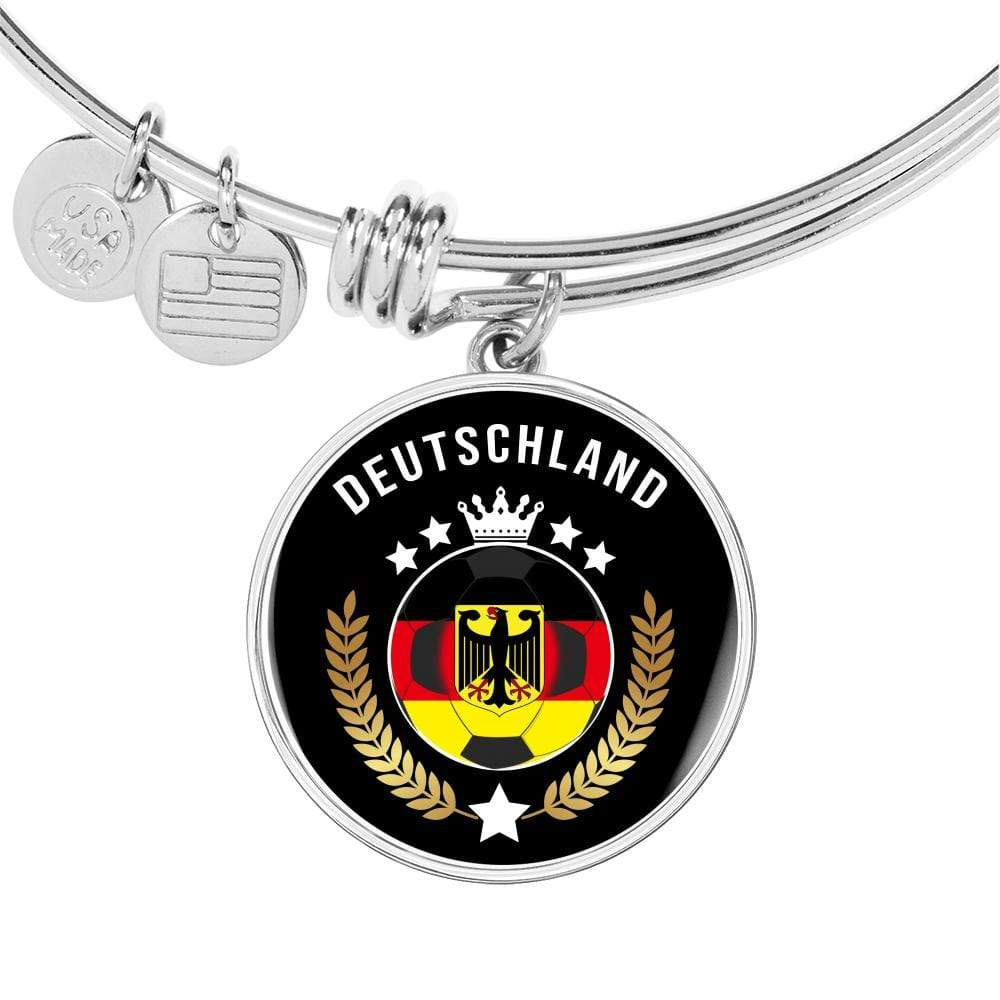 Germany World Football Cup Edition Stainless Steel or 18k Gold Finish Circle Bangle Bracelet Express Your Love Gifts