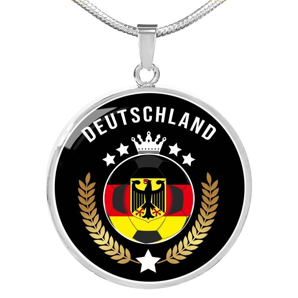 Express Your Love Gifts Germany World Futbol/Soccer Cup Edition Circular Pendant Necklace