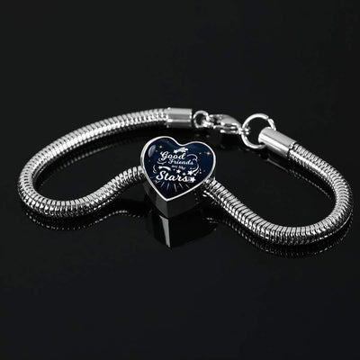 Good Friends are Like Stars  Handmade Stainless Steel Heart Charm Bracelet Express Your Love Gifts