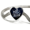 Express Your Love Gifts Good Friends are Like Stars Heart Charm Bracelet S/M Bracelet & Charm