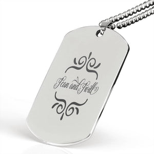 "I can and I will Inspirational Encouragement Quote Necklace Stainless Steel Dog Tag w 24"" Ball Chain Express Your Love Gifts"