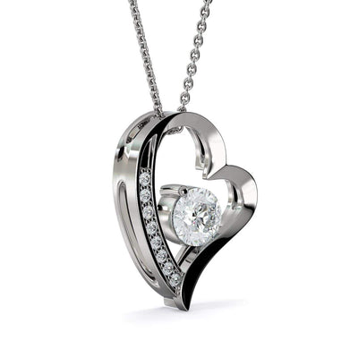 "I'll Hold You in my Heart Cubic Zirconia Love Heart Pendant 18k Gold  Finish or Stainless Steel 18"" Necklace Express Your Love Gifts"