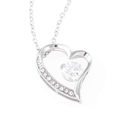 "I'll Hold You in my Heart Cubic Zirconia Love Heart Pendant 18k Gold or Stainless Steel 18"" Necklace Express Your Love Gifts"