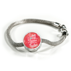 Express Your Love Gifts I Love All The Adventures We Have Together (Travel) Circular Charm Bracelet M/L Bracelet & Charm