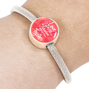 Express Your Love Gifts I Love All The Adventures We Have Together (Travel) Circular Charm Bracelet