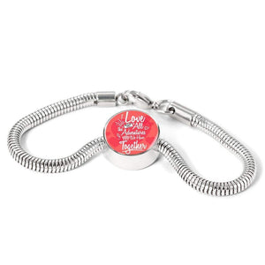 I Love All The Adventures We Have Together (Travel) Handmade Stainless Steel Circle Charm Bracelet Express Your Love Gifts
