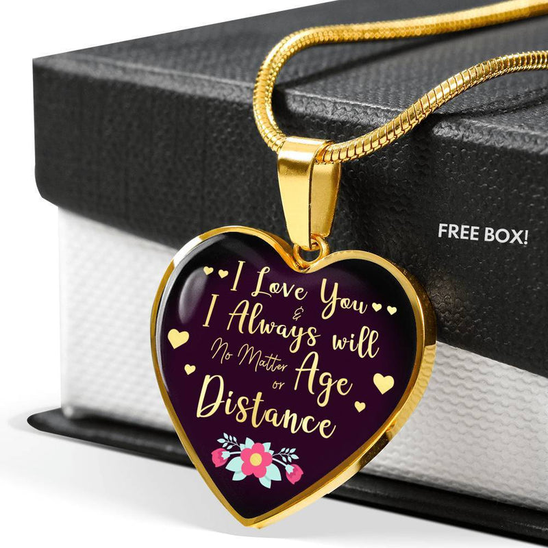 Express Your Love Gifts I Love You and I Always Will Heart Pendant Love Gift Necklace