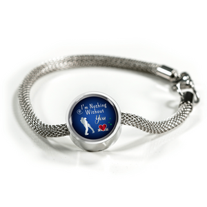 Express Your Love Gifts I'm Nothing Without You Circular Charm Bracelet S/M Bracelet & Charm