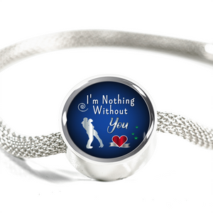 Express Your Love Gifts I'm Nothing Without You Circular Charm Bracelet