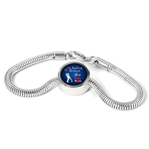 I'm Nothing Without You Handmade Stainless Steel Circle Charm Bracelet Express Your Love Gifts