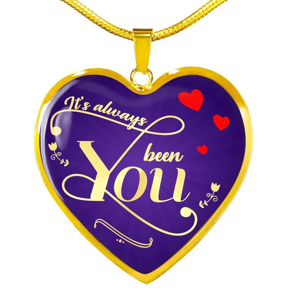 "Love Message Gift Necklace Stainless Steel or 18k Gold Heart Pendant 18""-22"" - Express Your Love Gifts"