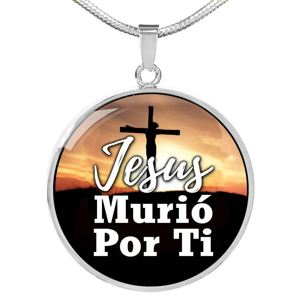 Express Your Love Gifts Jesus Died For You in Spanish Necklace Pendant Jewelry Gift