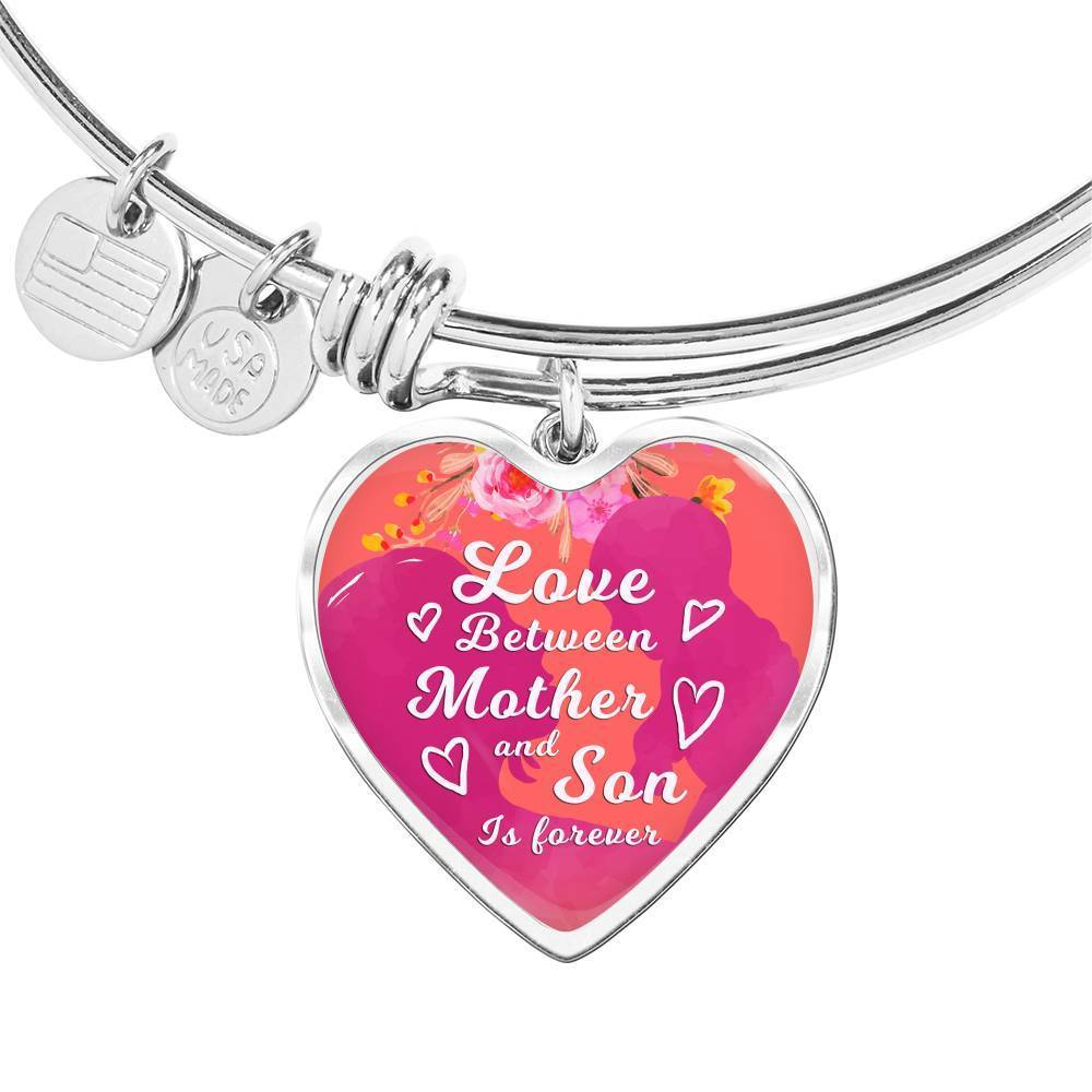 Express Your Love Gifts Love Between Mother and Son is Forever Bracelet Bangle