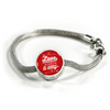 Express Your Love Gifts Love Will Always Find A Way - Handmade Stainless Steel Circle Charm Bracelet S/M Bracelet & Charm