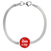 Express Your Love Gifts Love Will Always Find A Way - Handmade Stainless Steel Circle Charm Bracelet