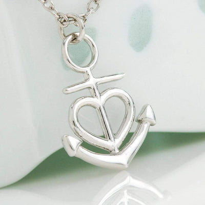 "Mom To Daughter Anchor Necklace Stainless Steel 16-22"" Adjustable Cable Chain Express Your Love Gifts"