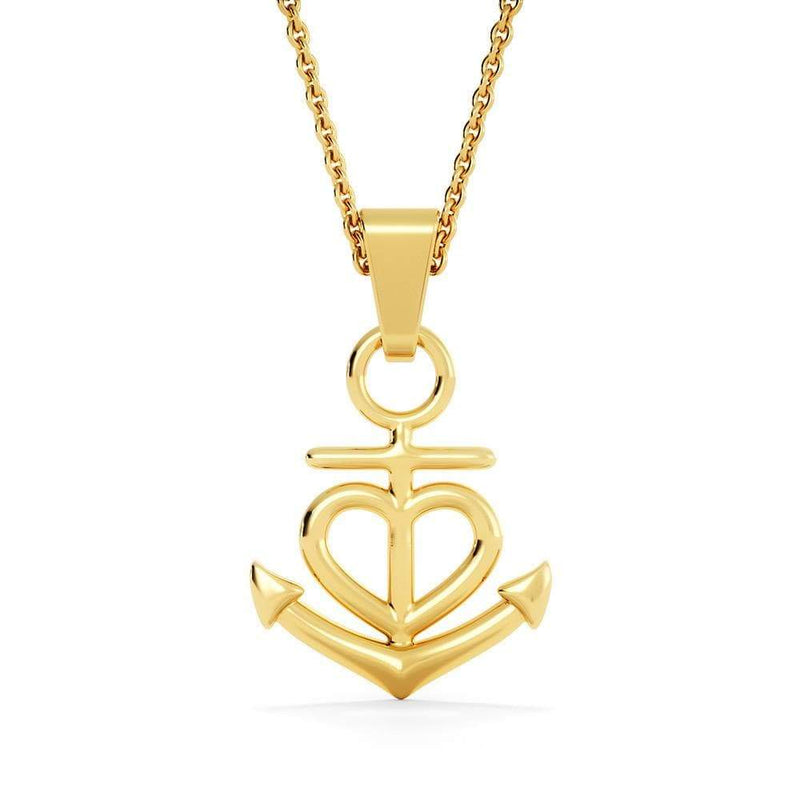 "Mom To Daughter Anchor Necklace Stainless Steel 16-22"" Cable Chain - Express Your Love Gifts"