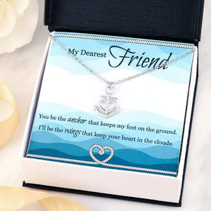 "My Dearest Friend Anchor Necklace Stainless Steel 16-22"" Adjustable Cable Chain Express Your Love Gifts"