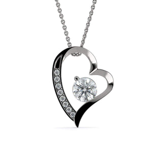 "My Guardian Angel Love Heart Pendant 18k Gold Finish or Stainless Steel 18"" CZ Necklace Express Your Love Gifts"