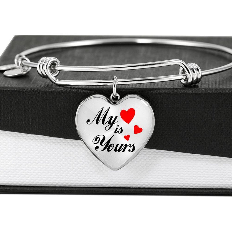 My Heart is Yours Heart Bracelet Bangle - Express Your Love Gifts