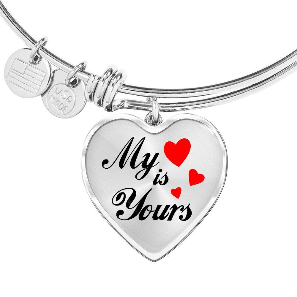 Express Your Love Gifts My Heart is Yours Heart Bracelet Bangle