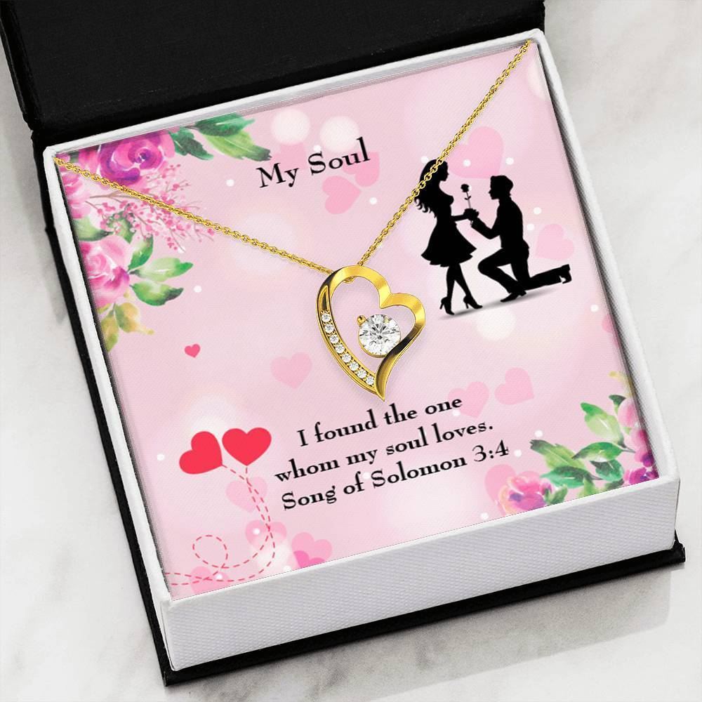 "My Soul CZ Love Heart Pendant 18k Gold or Stainless Steel 18"" Necklace - Express Your Love Gifts"