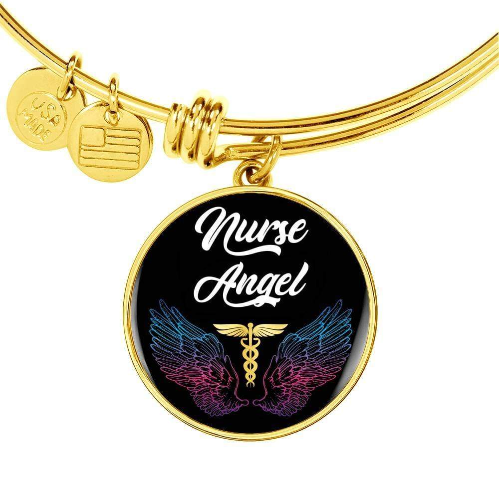 Nurse Angel Circle Bracelet Bangle Express Your Love Gifts