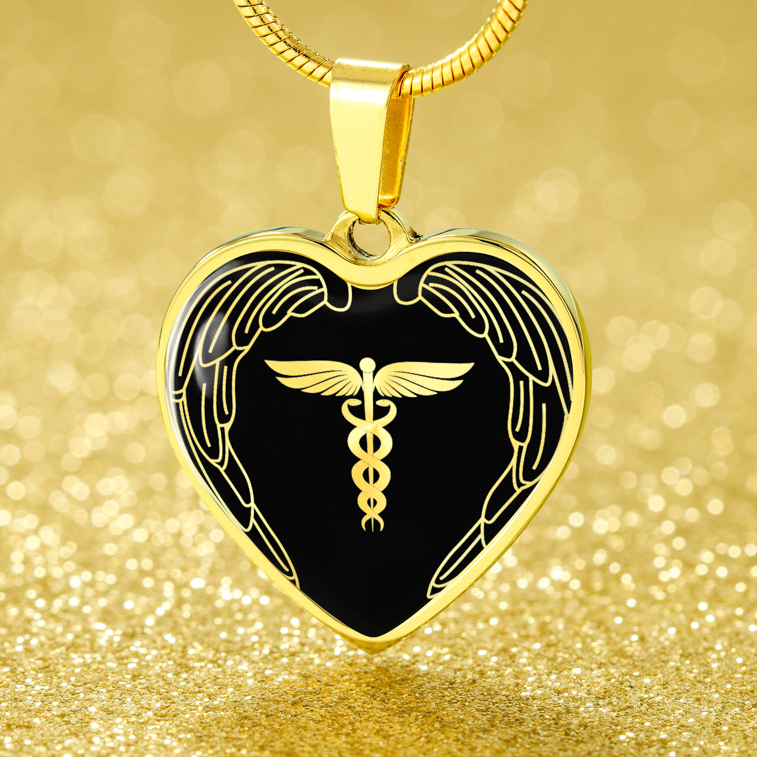 "Nurses Are Angels Necklace Stainless Steel or 18k Gold Finish Heart Pendant 18""-22"" Express Your Love Gifts"