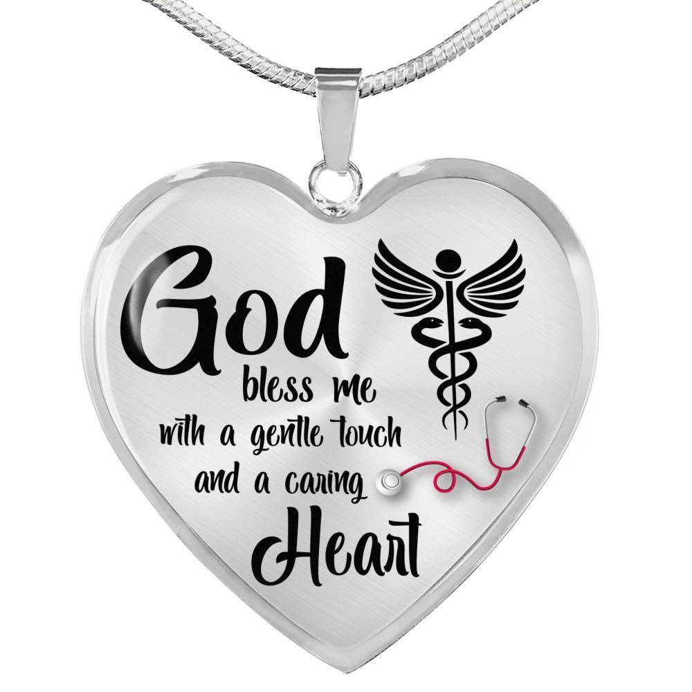 Express Your Love Gifts Nurses Prayer Nurse Jewelry Gift Heart Necklace Pendant