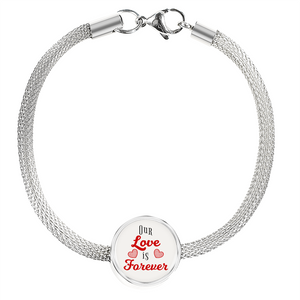Express Your Love Gifts Our Love is Forever- Circular Charm Bracelet