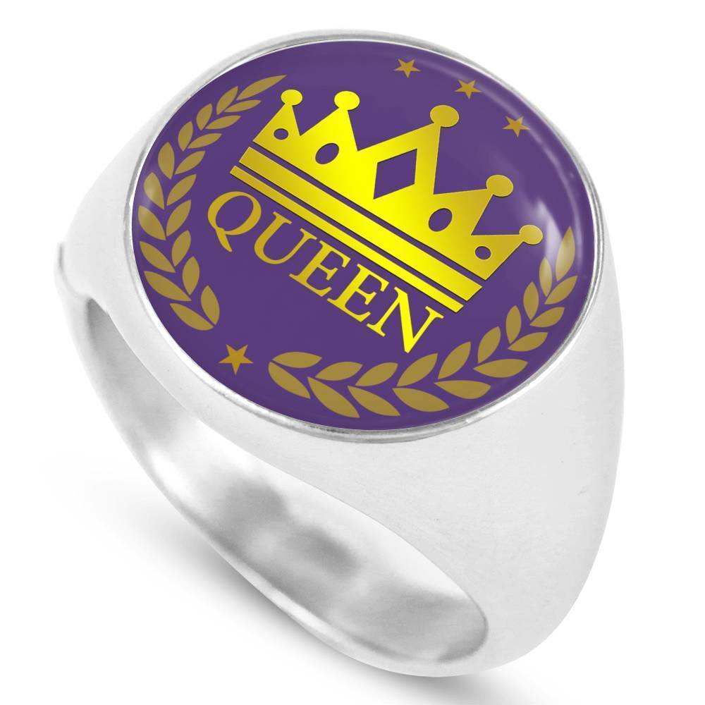 Express Your Love Gifts Queen Circle  Signet Ring