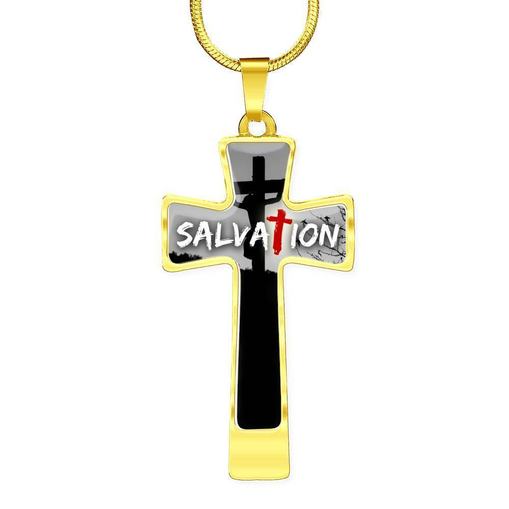 Express Your Love Gifts Salvation Christian Bible Verse Cross Pendant Necklace