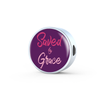 Express Your Love Gifts Saved By Grace Faith Gear Jewelry Ephesians Circular Charm Bracelet Charm Only
