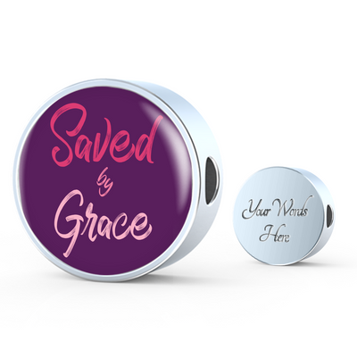 Express Your Love Gifts Saved By Grace Faith Gear Jewelry Ephesians Circular Charm Bracelet