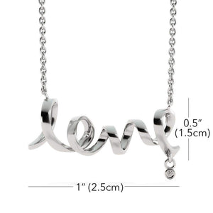"Scripted Love Card Necklace Stainless Steel 16-22"" Adjustable Cable Chain Express Your Love Gifts"