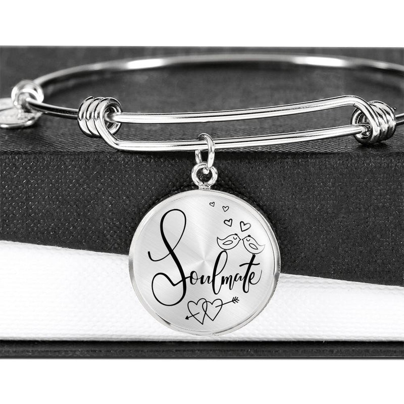 Express Your Love Gifts Soulmate Circle Bangle Bracelet