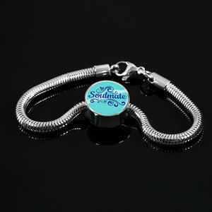 Soulmate-Handmade Stainless Steel Handmade Stainless Steel Circle Charm Bracelet Express Your Love Gifts