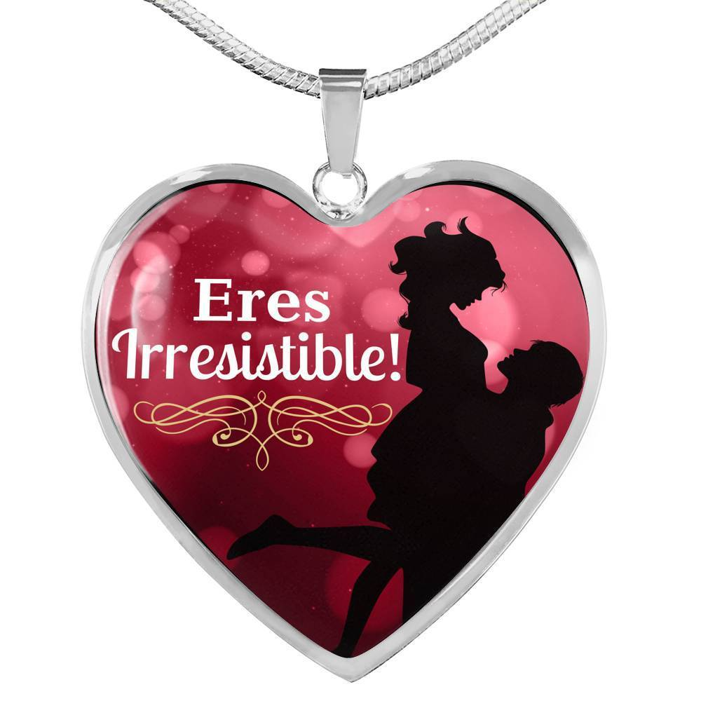 Express Your Love Gifts Spanish Love Jewerly- You're Irresistible Heart Pendant Necklace Latina Gift