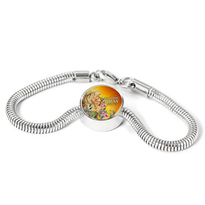 Express Your Love Gifts St. Anne Catholic Jewelry Circular Charm Bracelet