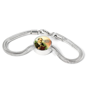 Express Your Love Gifts St. Benedict Catholic Jewelry Circular Charm Bracelet
