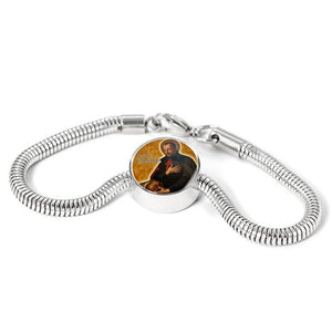 Express Your Love Gifts St. Camillus Catholic Jewelry Circular Charm Bracelet S/M Bracelet & Charm / No