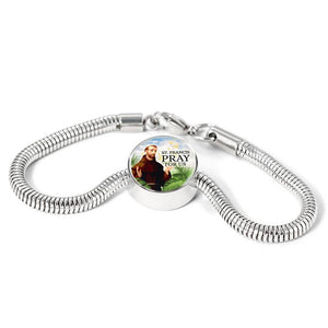 Express Your Love Gifts St. Francis Catholic Jewelry Circular Charm Bracelet