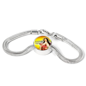 Express Your Love Gifts St. Therese Catholic Jewelry Circular Charm Bracelet