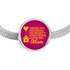 Express Your Love Gifts Thank You For Being My Heart's First Home, I Love You Mom Circular Charm Bracelet