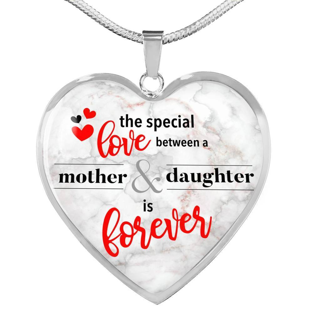 Express Your Love Gifts The Special Love Between A Mother & Daughter Is Forever Heart Pendant Necklace