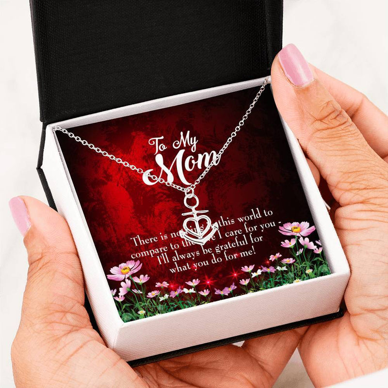 There is Nothing Anchor Pendant Stainless Steel, Mothers Day Birthday Jewelry Gift Express Your Love Gifts